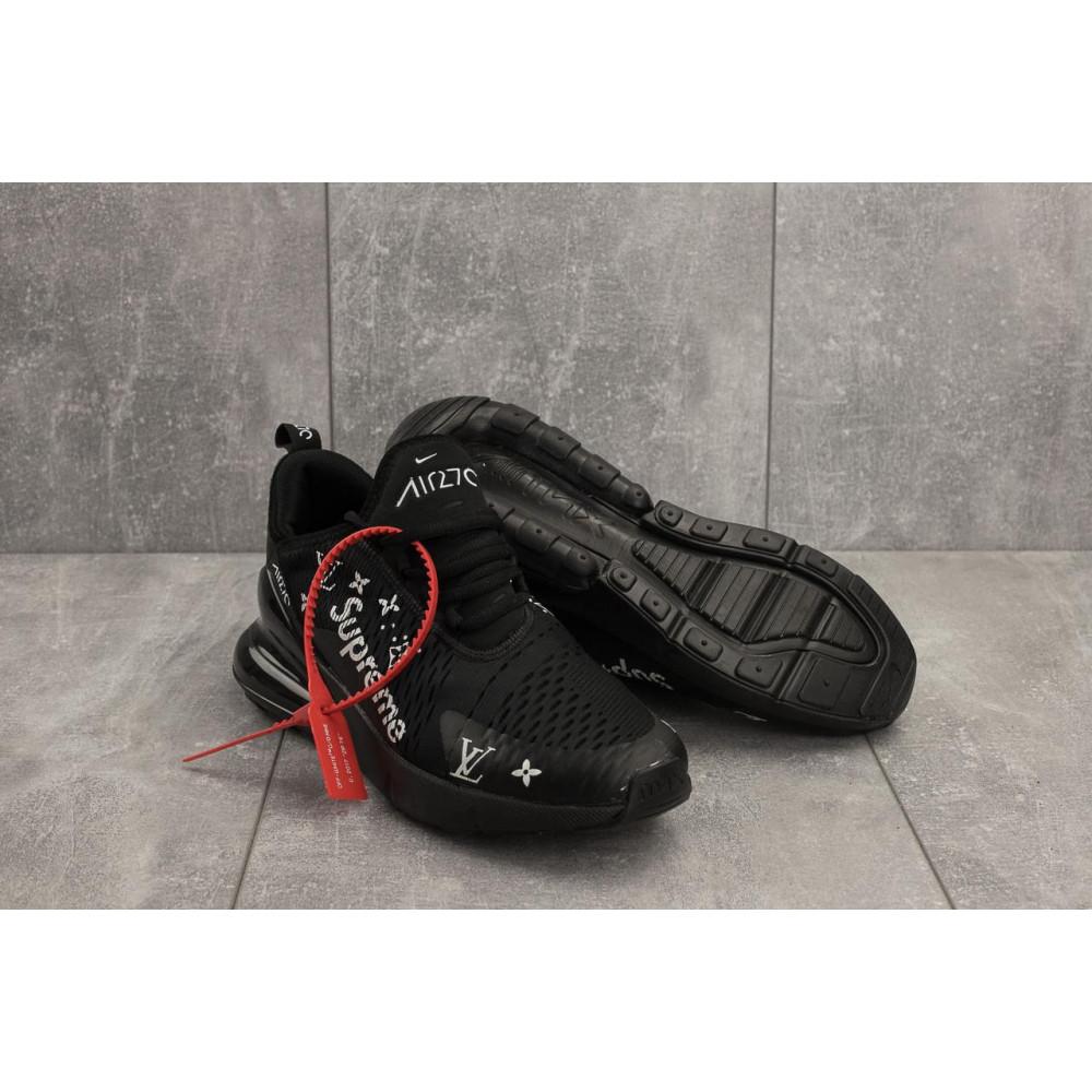Демисезонные кроссовки мужские   - Мужские кроссовки текстильные весна/осень черные Aoka Supr A 270 -2 4