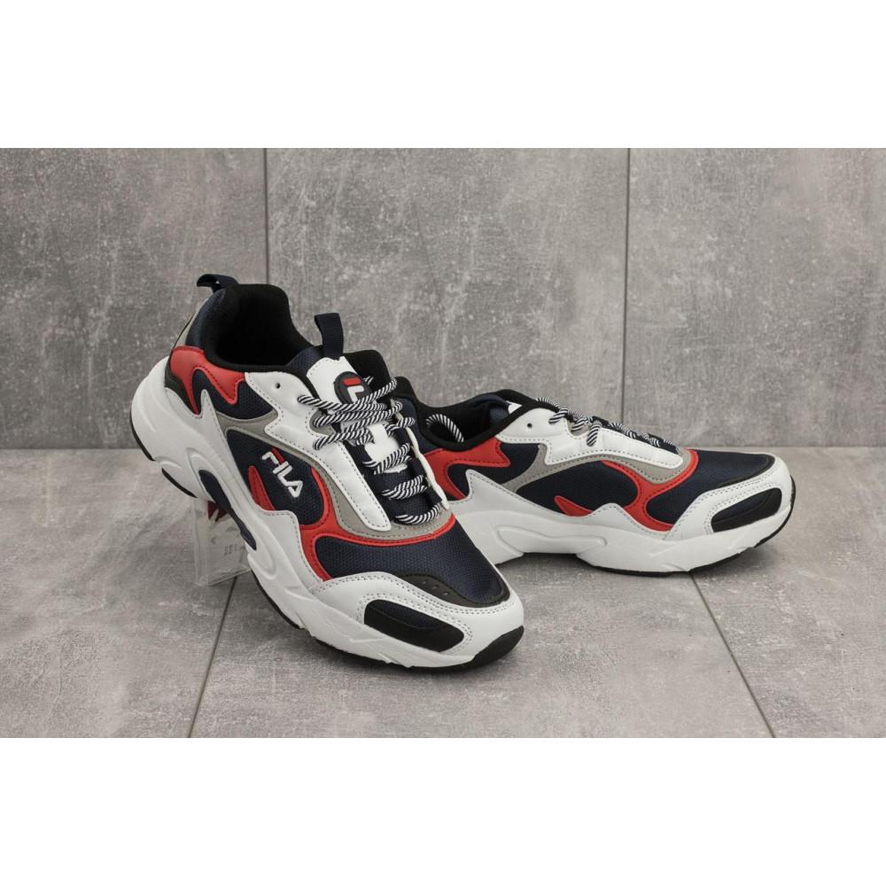 Демисезонные кроссовки мужские   - Мужские кроссовки текстильные весна/осень белые Baas A 387 -3
