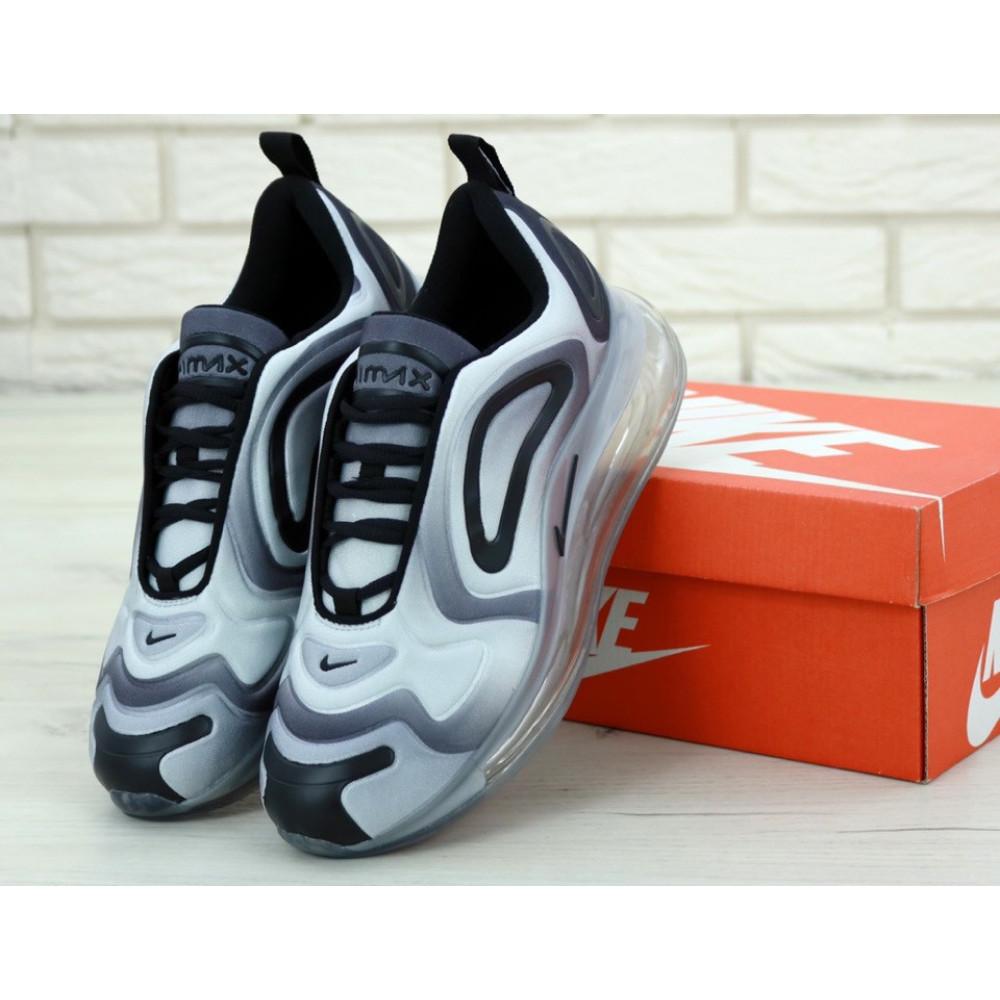 Беговые кроссовки мужские  - Мужские серые кроссовки Найк Аир Макс 720 1