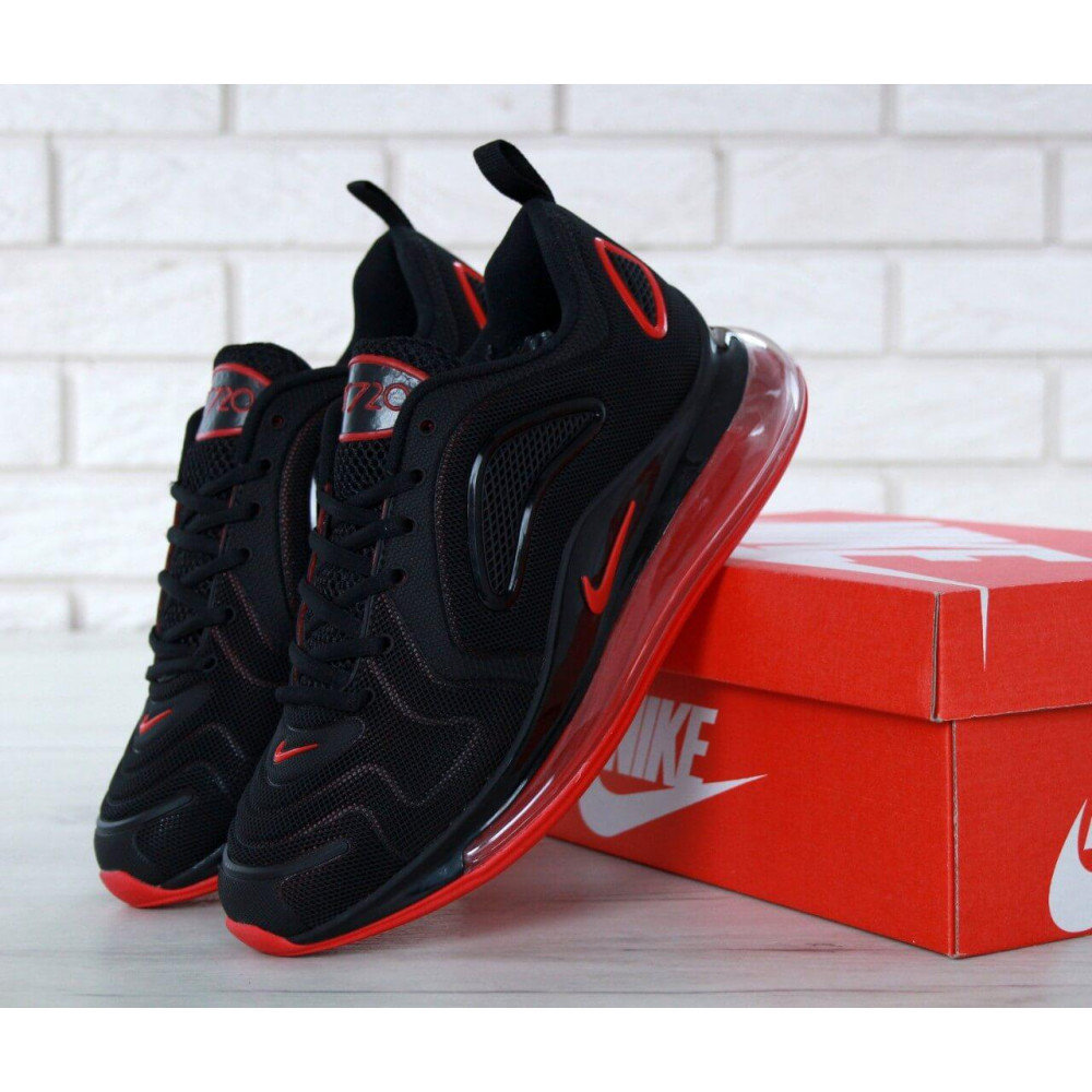 Классические кроссовки мужские - Мужские кроссовки Найк Аир Макс 720 Black Red