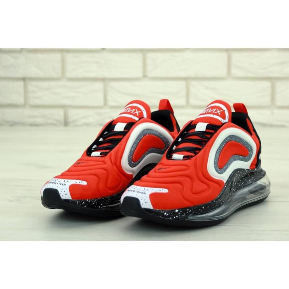 Беговые кроссовки мужские  - Мужские красные кроссовки Найк Аир Макс 720 3