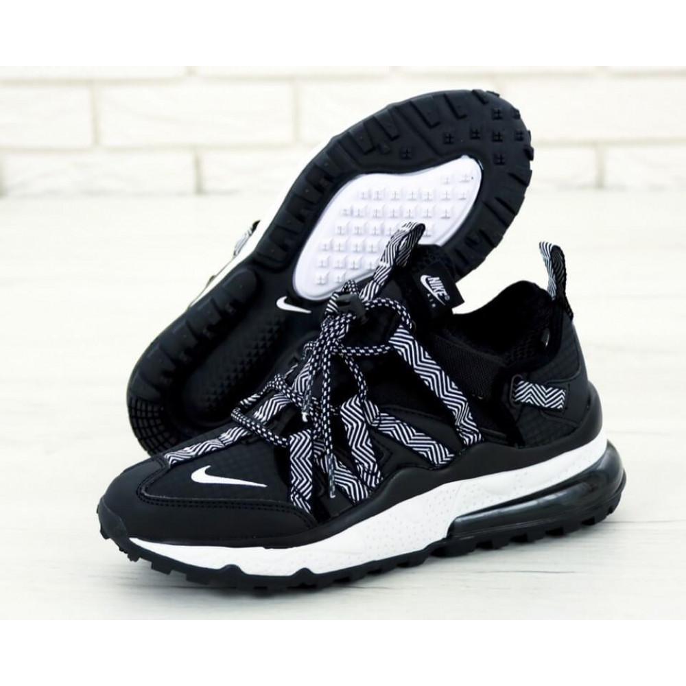 Демисезонные кроссовки мужские   - Кроссовки Найк Аир Макс 270 Bowfin Черные 1