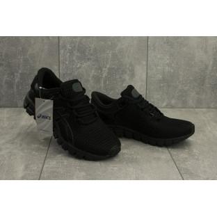 Мужские кроссовки текстильные весна/осень черные Aoka A 740 -1