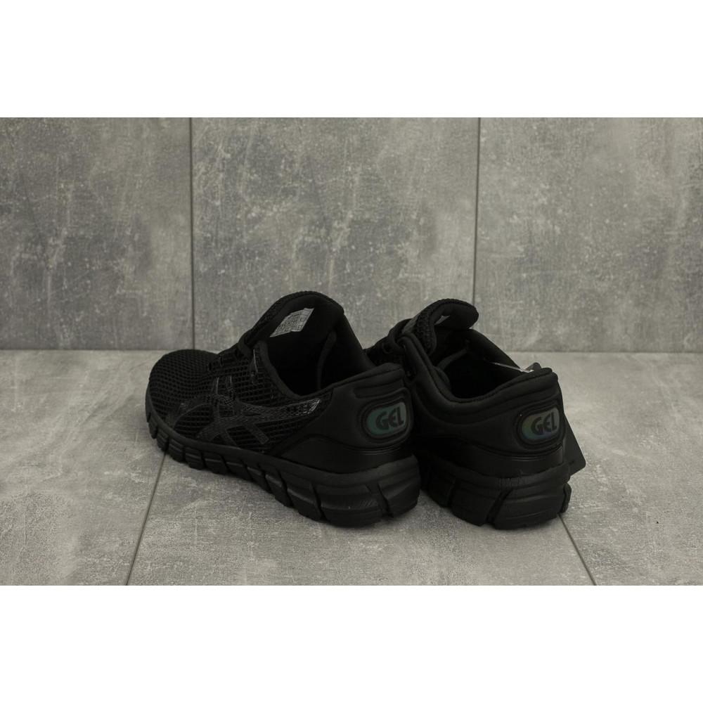 Демисезонные кроссовки мужские   - Мужские кроссовки текстильные весна/осень черные Aoka A 740 -1 3