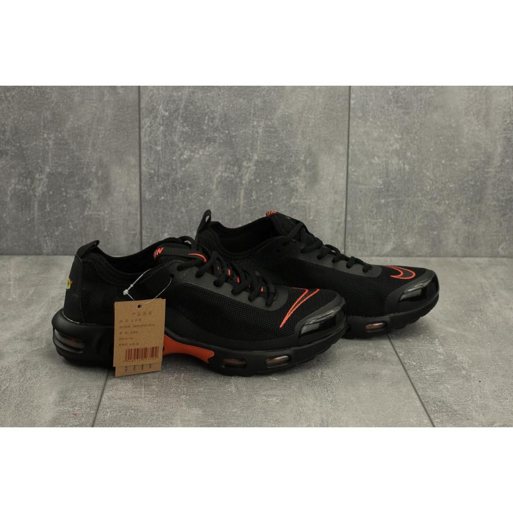 Демисезонные кроссовки мужские   - Мужские кроссовки текстильные весна/осень черные-красные Aoka A 730 -6 2