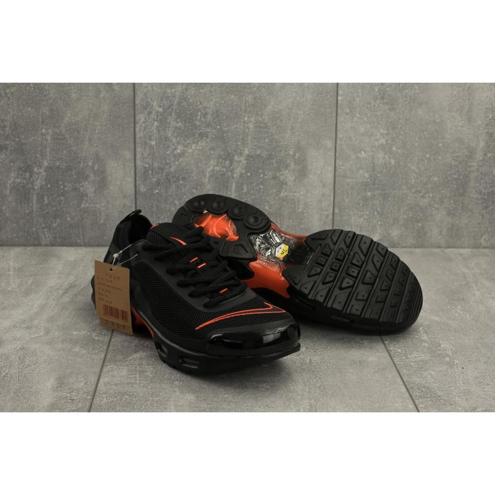Демисезонные кроссовки мужские   - Мужские кроссовки текстильные весна/осень черные-красные Aoka A 730 -6 4