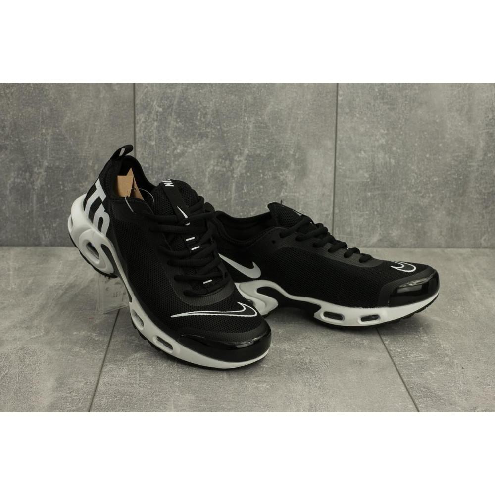 Демисезонные кроссовки мужские   - Мужские кроссовки текстильные весна/осень черные-белые Aoka A 730 -7