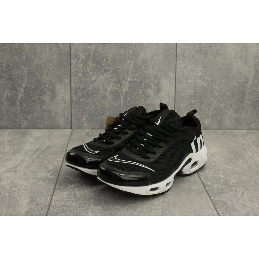 Демисезонные кроссовки мужские   - Мужские кроссовки текстильные весна/осень черные-белые Aoka A 730 -7 3