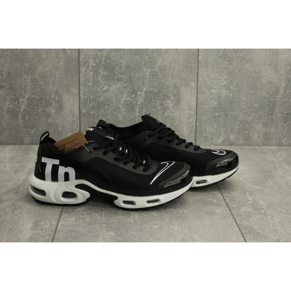 Демисезонные кроссовки мужские   - Мужские кроссовки текстильные весна/осень черные-белые Aoka A 730 -7 4