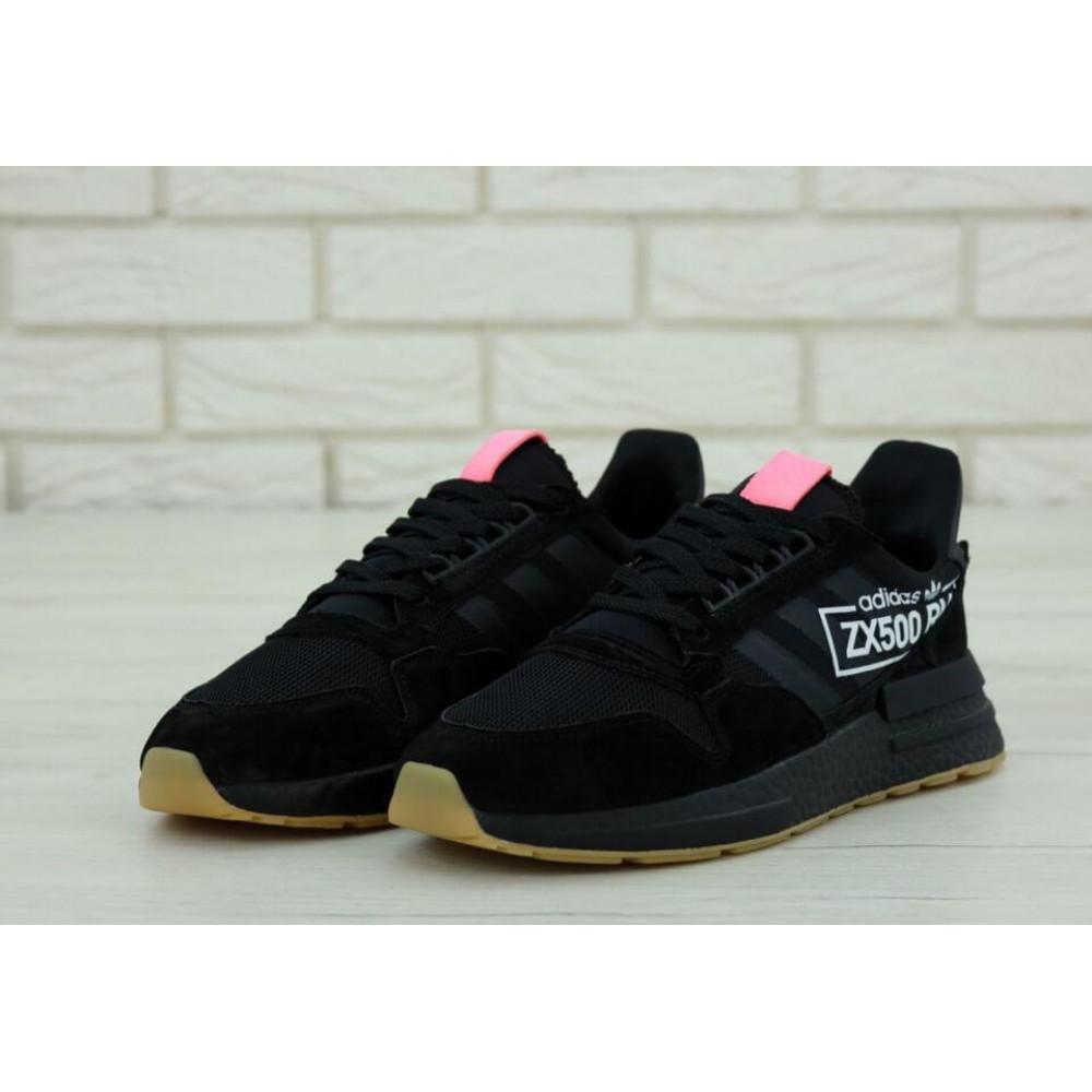 Беговые кроссовки мужские  - Мужские кроссовки Adidas ZX-500 RM Черные 2