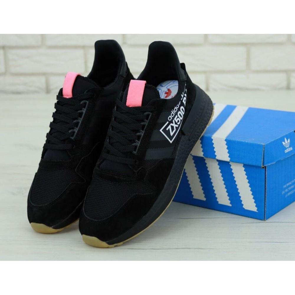 Беговые кроссовки мужские  - Мужские кроссовки Adidas ZX-500 RM Черные