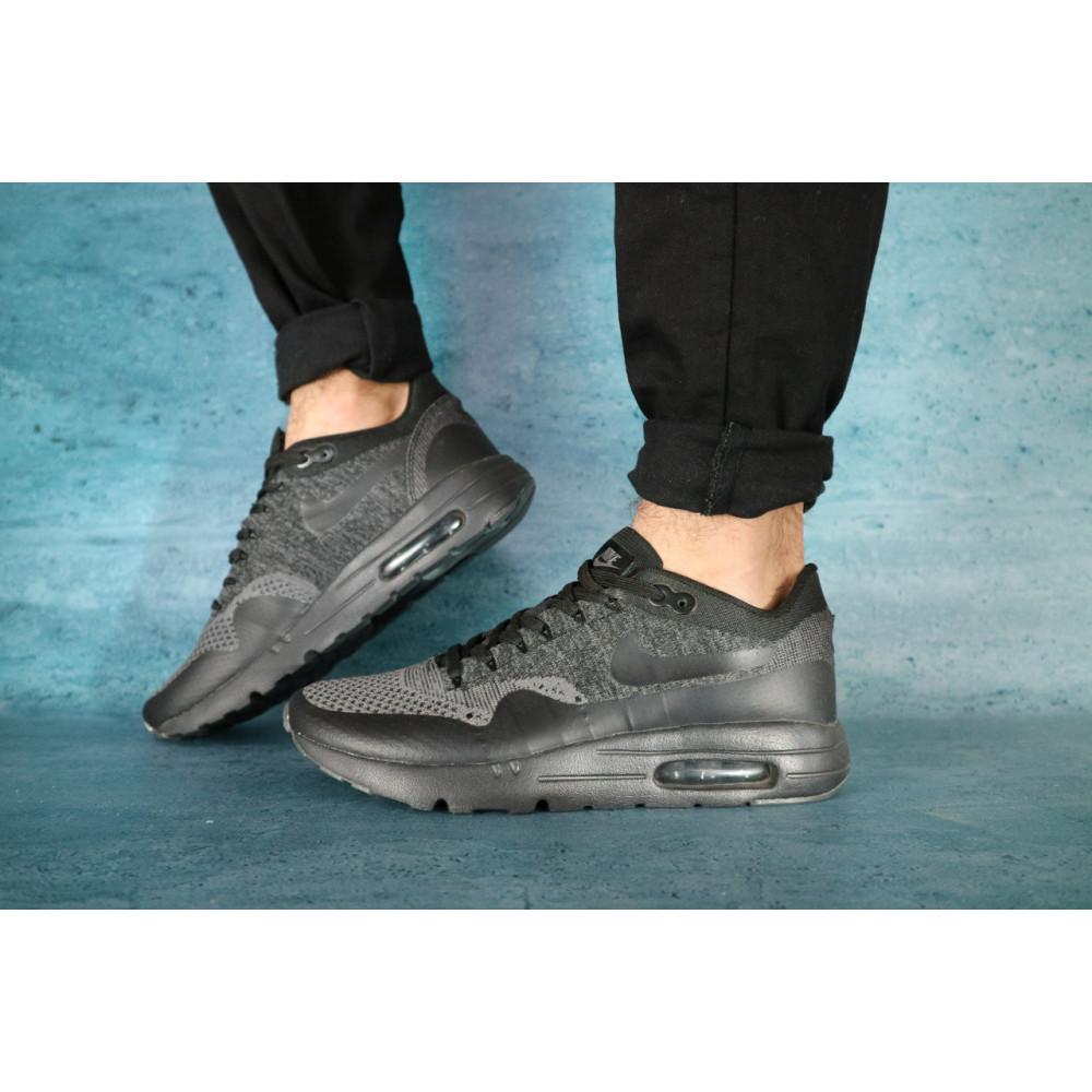 Демисезонные кроссовки мужские   - Мужские кроссовки текстильные весна/осень черные Classica А 602 1