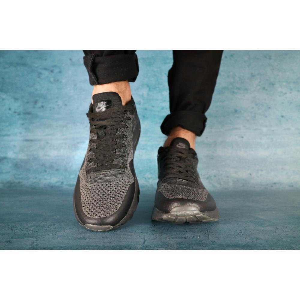 Демисезонные кроссовки мужские   - Мужские кроссовки текстильные весна/осень черные Classica А 602 2