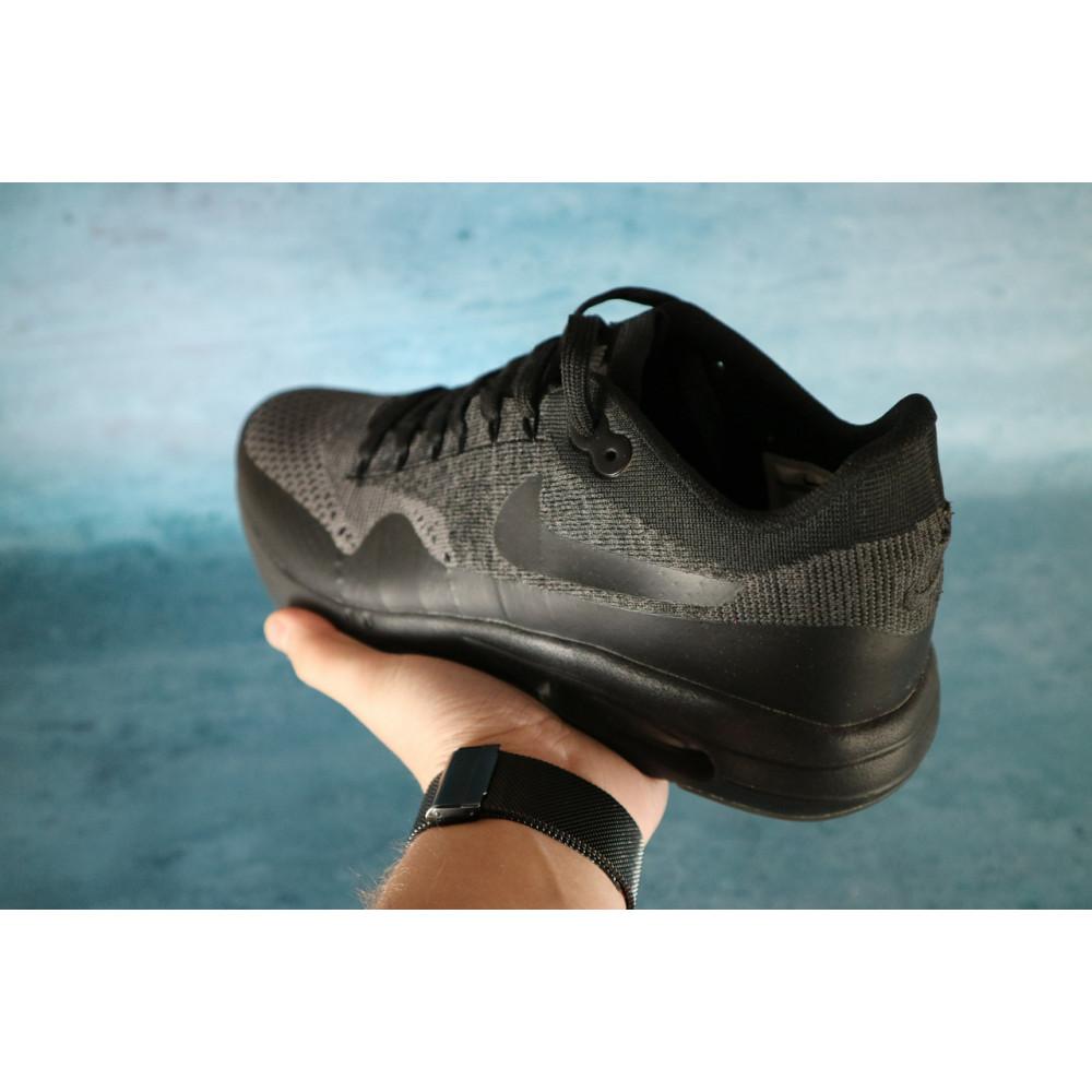 Демисезонные кроссовки мужские   - Мужские кроссовки текстильные весна/осень черные Classica А 602 4