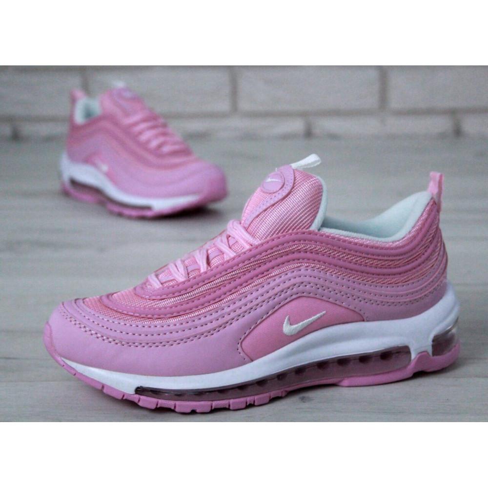 Женские кроссовки классические  - Женские розовые кроссовки Nike Air Max 97 2