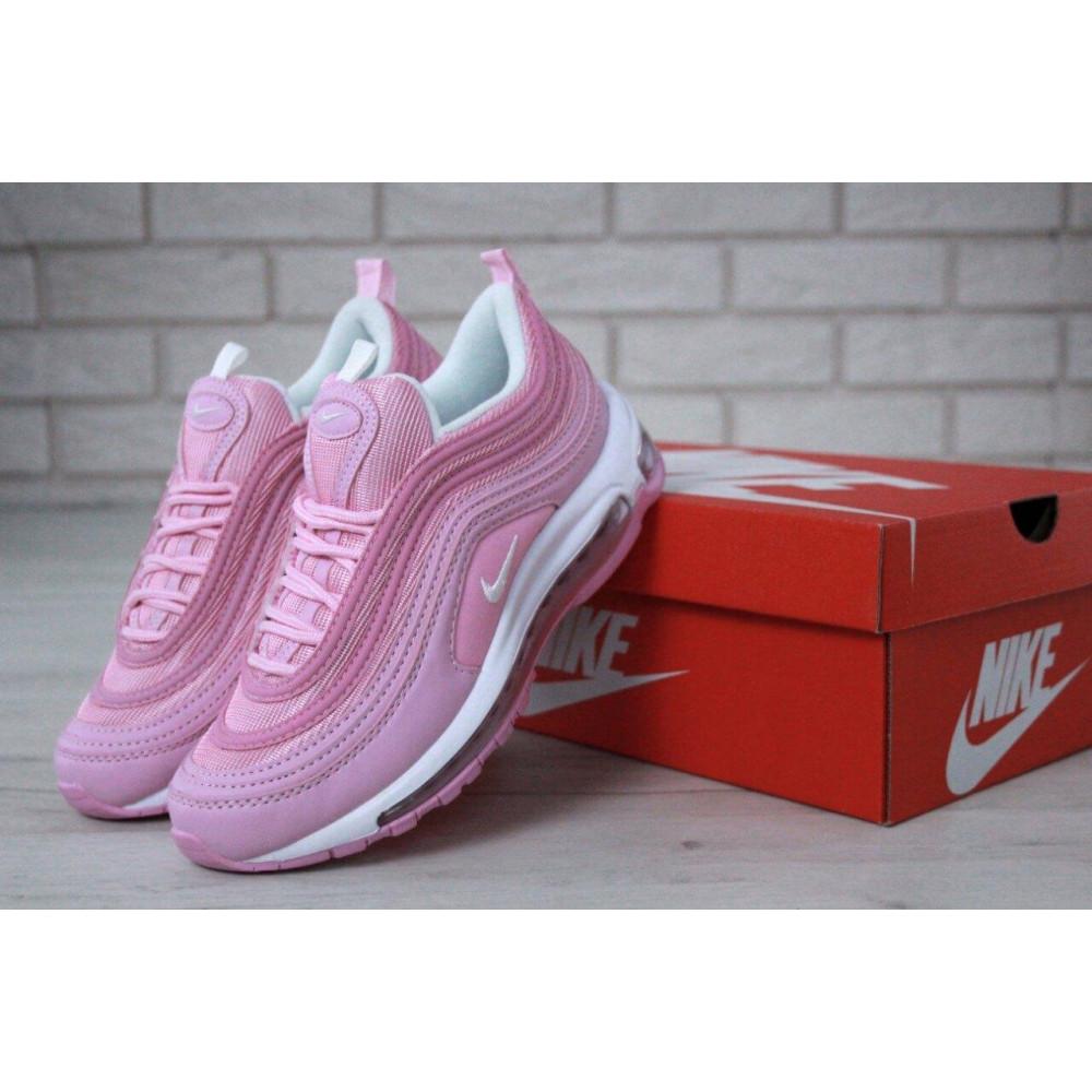 Женские кроссовки классические  - Женские розовые кроссовки Nike Air Max 97
