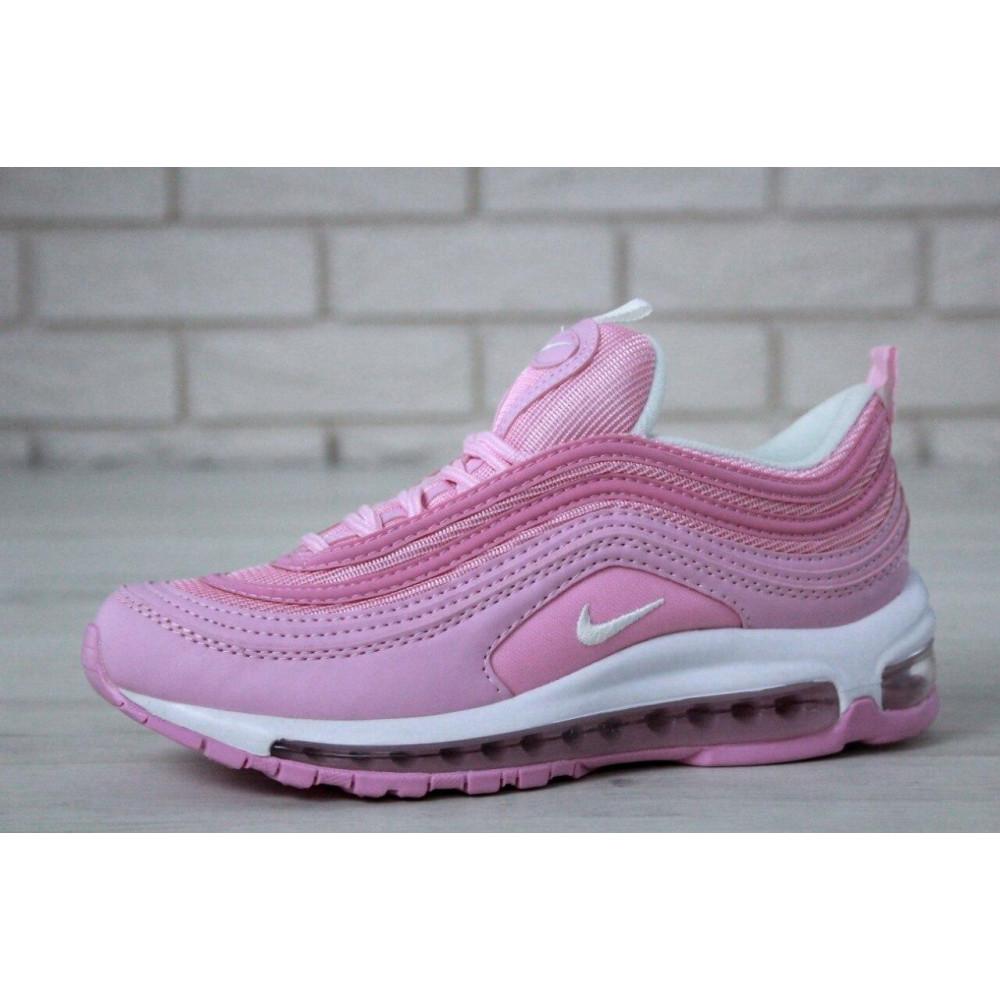 Женские кроссовки классические  - Женские розовые кроссовки Nike Air Max 97 5