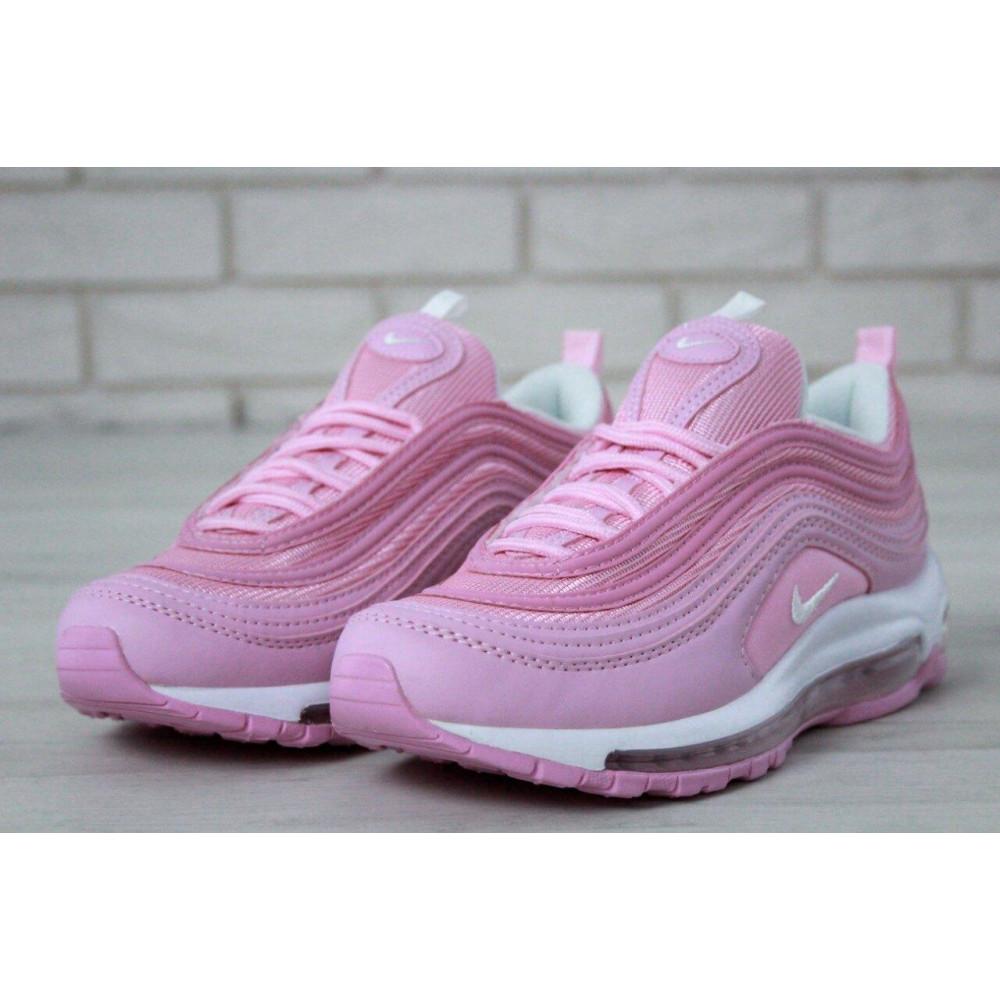 Женские кроссовки классические  - Женские розовые кроссовки Nike Air Max 97 7