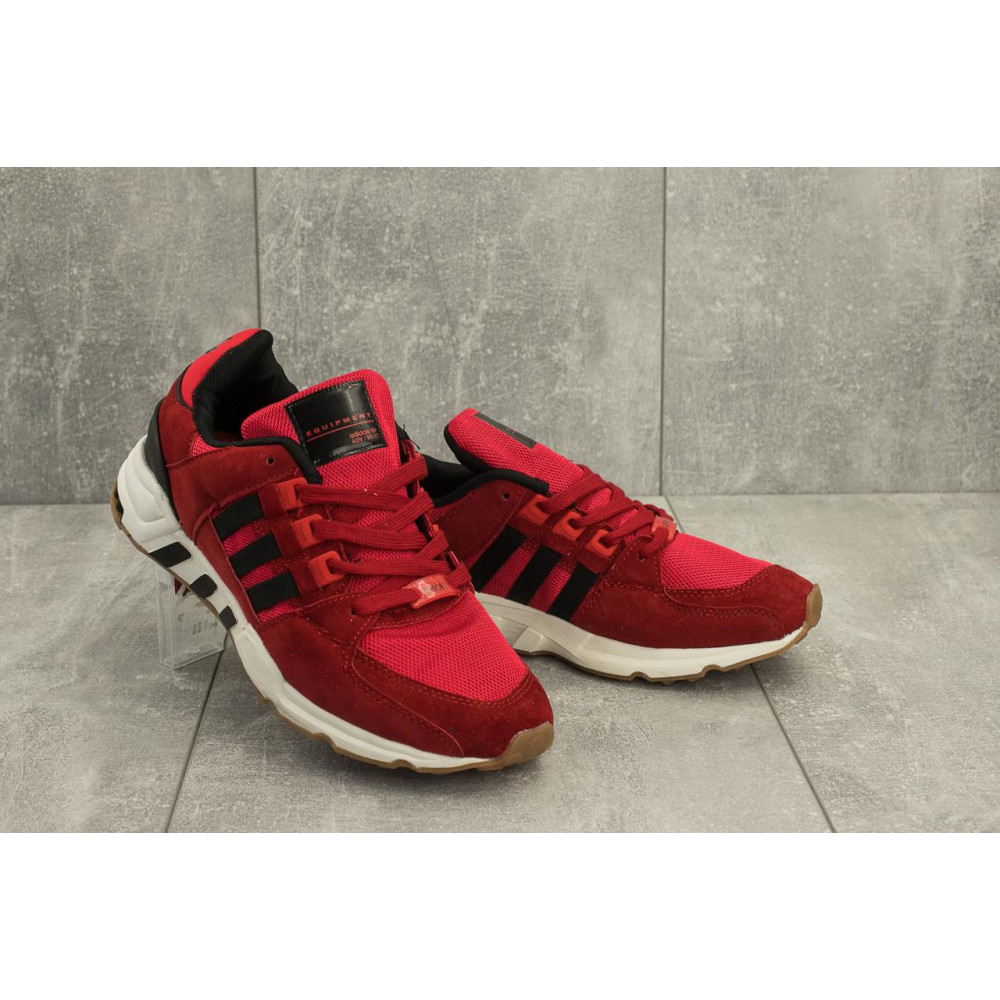 Классические кроссовки мужские - Мужские кроссовки искусственная замша весна/осень красные Ditof A 177 -13