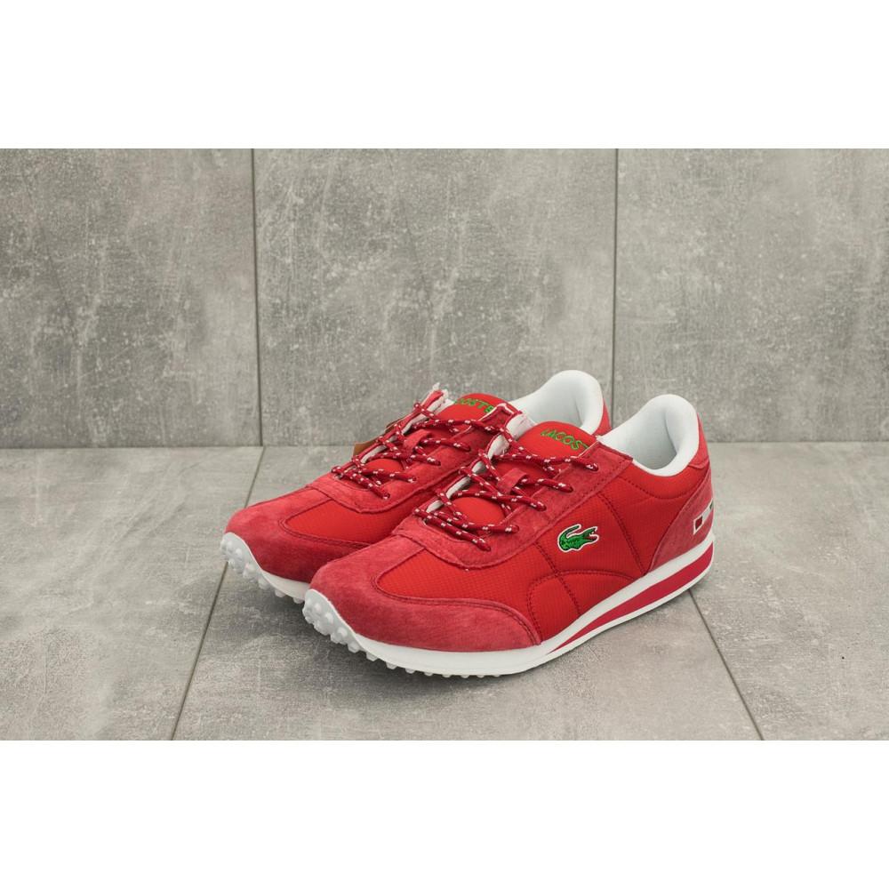 Демисезонные кроссовки мужские   - Мужские кроссовки текстильные весна/осень красные Ditof A 1084 -5 3