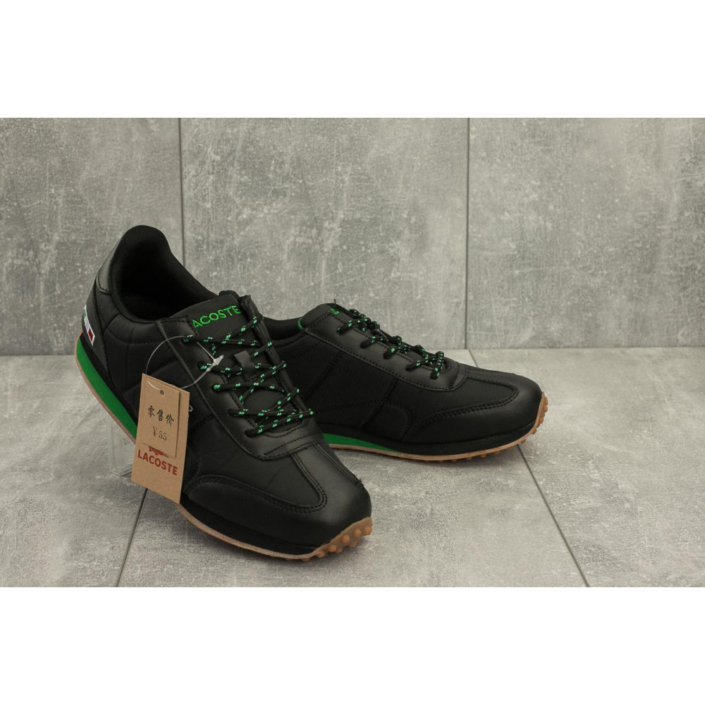 Демисезонные кроссовки мужские   - Мужские кроссовки текстильные весна/осень черные Ditof A 1084 -2