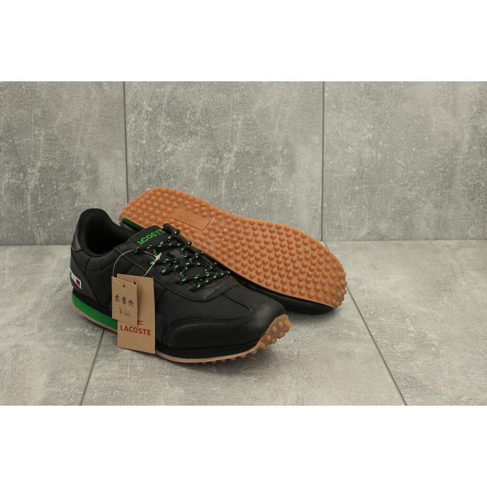 Демисезонные кроссовки мужские   - Мужские кроссовки текстильные весна/осень черные Ditof A 1084 -2 4
