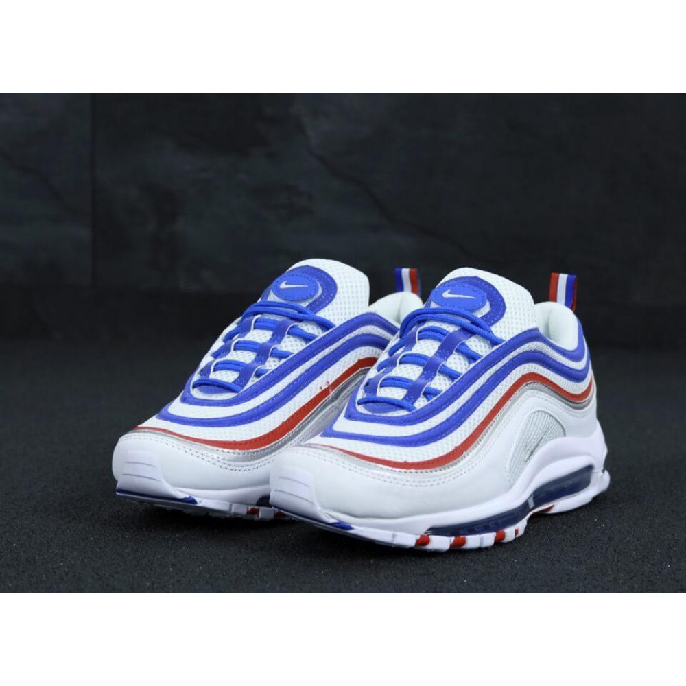 Классические кроссовки мужские - Мужские кроссовки Найк Аир Макс 97 White Blue Red 2