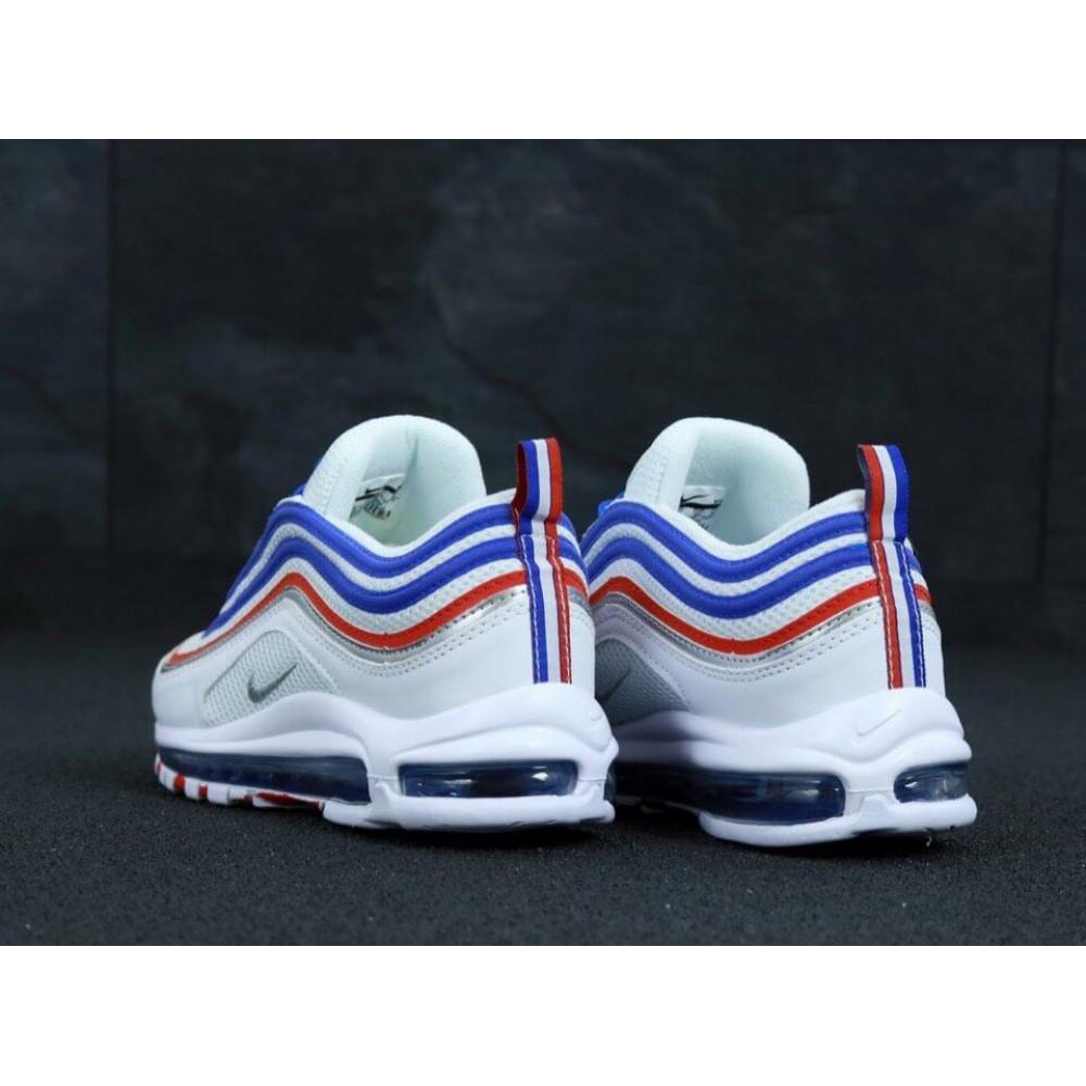 Классические кроссовки мужские - Мужские кроссовки Найк Аир Макс 97 White Blue Red 4