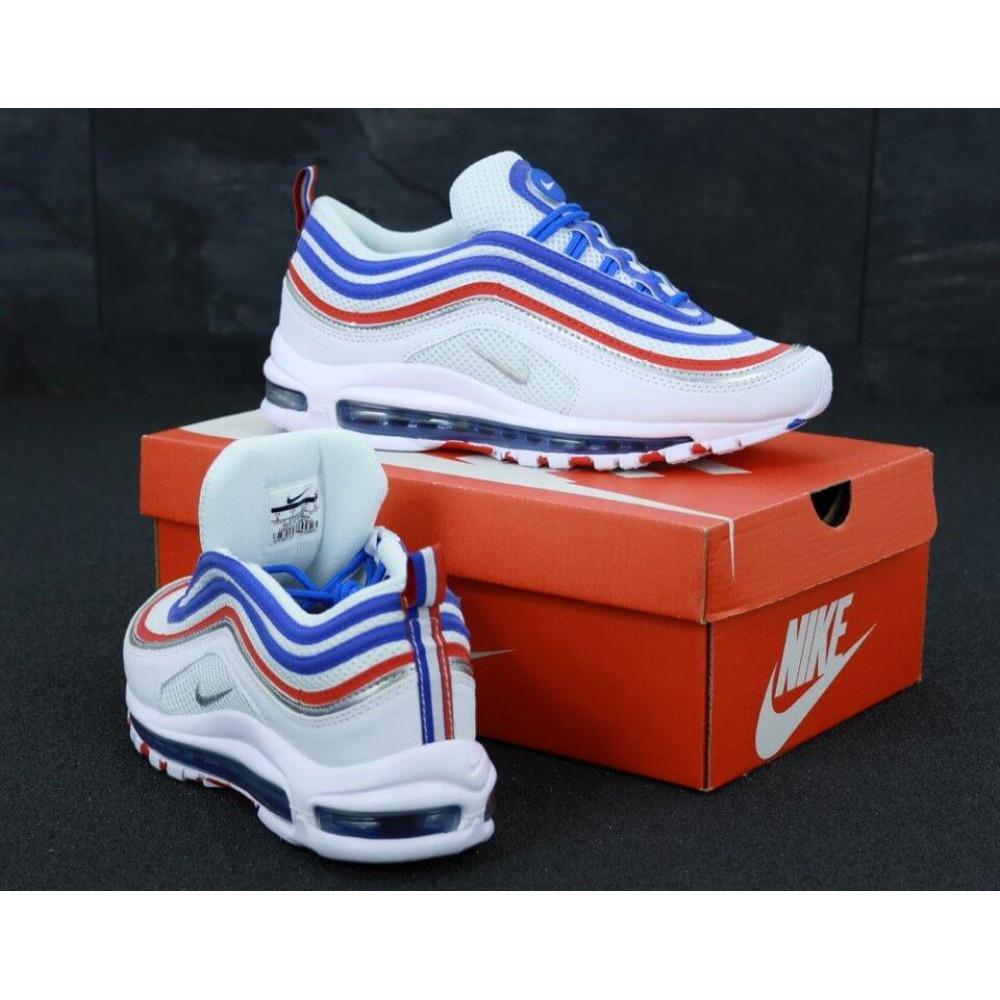 Классические кроссовки мужские - Мужские кроссовки Найк Аир Макс 97 White Blue Red 3