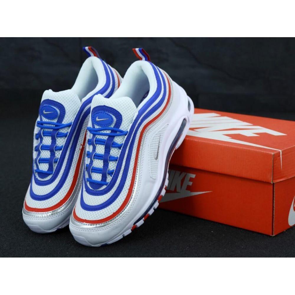 Классические кроссовки мужские - Мужские кроссовки Найк Аир Макс 97 White Blue Red