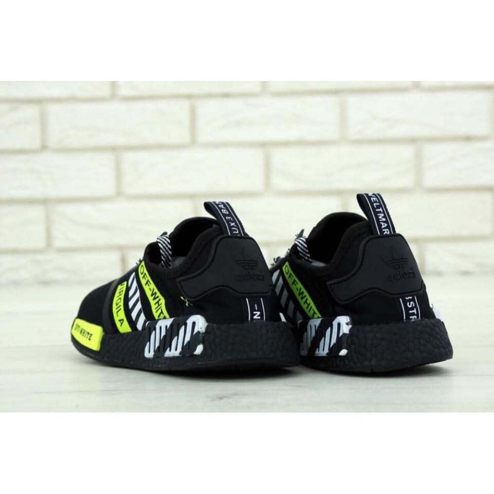 Демисезонные кроссовки мужские   - Мужские кроссовки Adidas NMD Off White Core Black 4