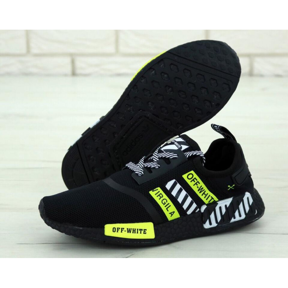 Демисезонные кроссовки мужские   - Мужские кроссовки Adidas NMD Off White Core Black 1