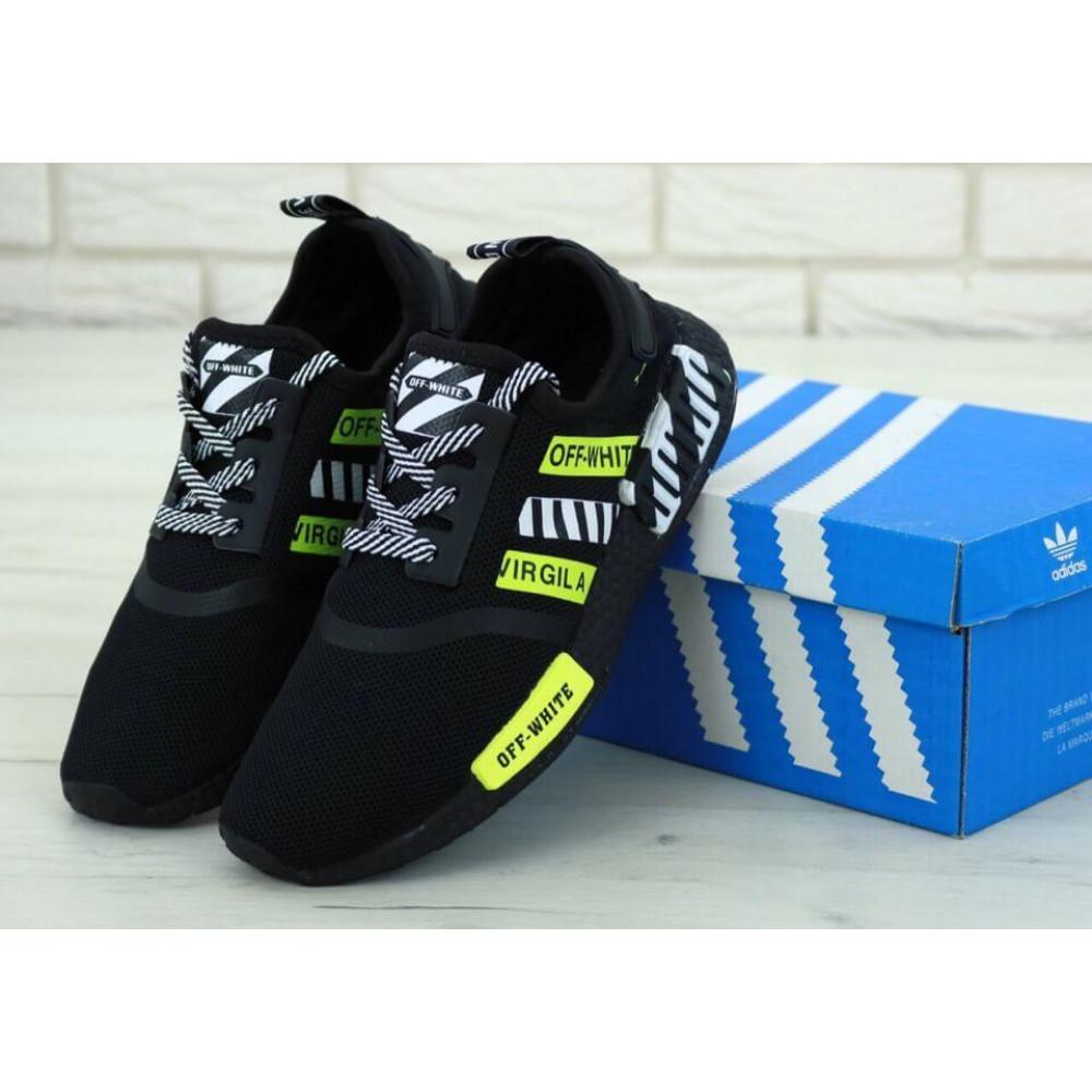 Демисезонные кроссовки мужские   - Мужские кроссовки Adidas NMD Off White Core Black