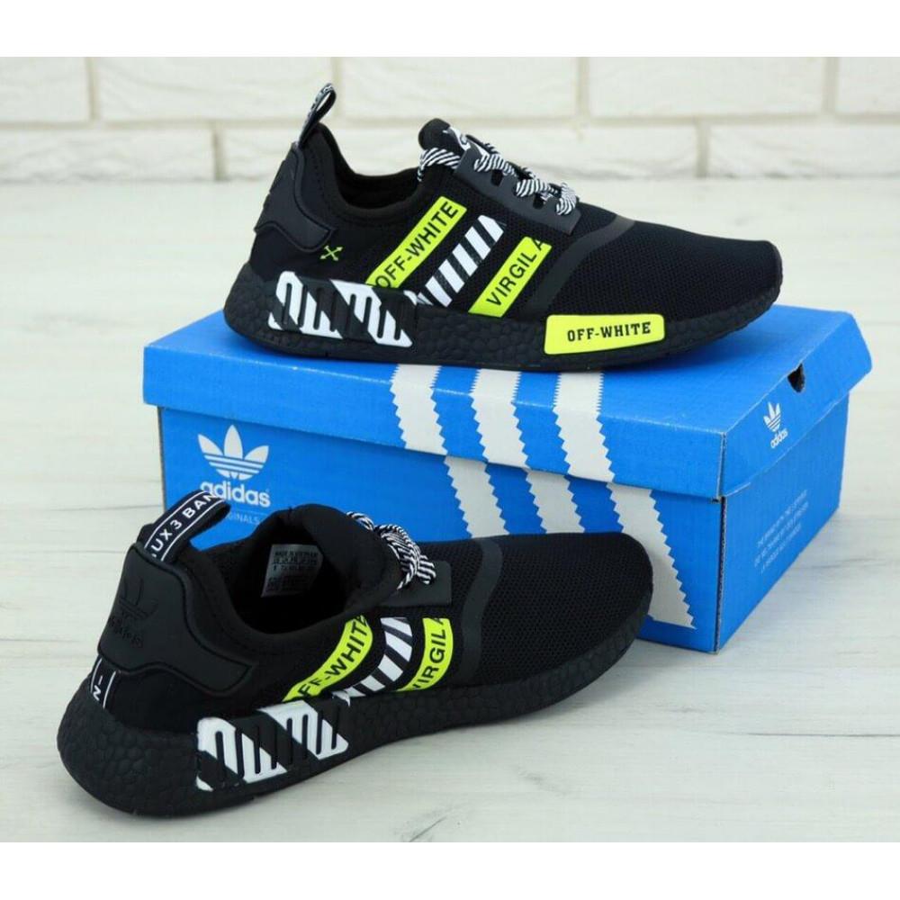 Демисезонные кроссовки мужские   - Мужские кроссовки Adidas NMD Off White Core Black 3