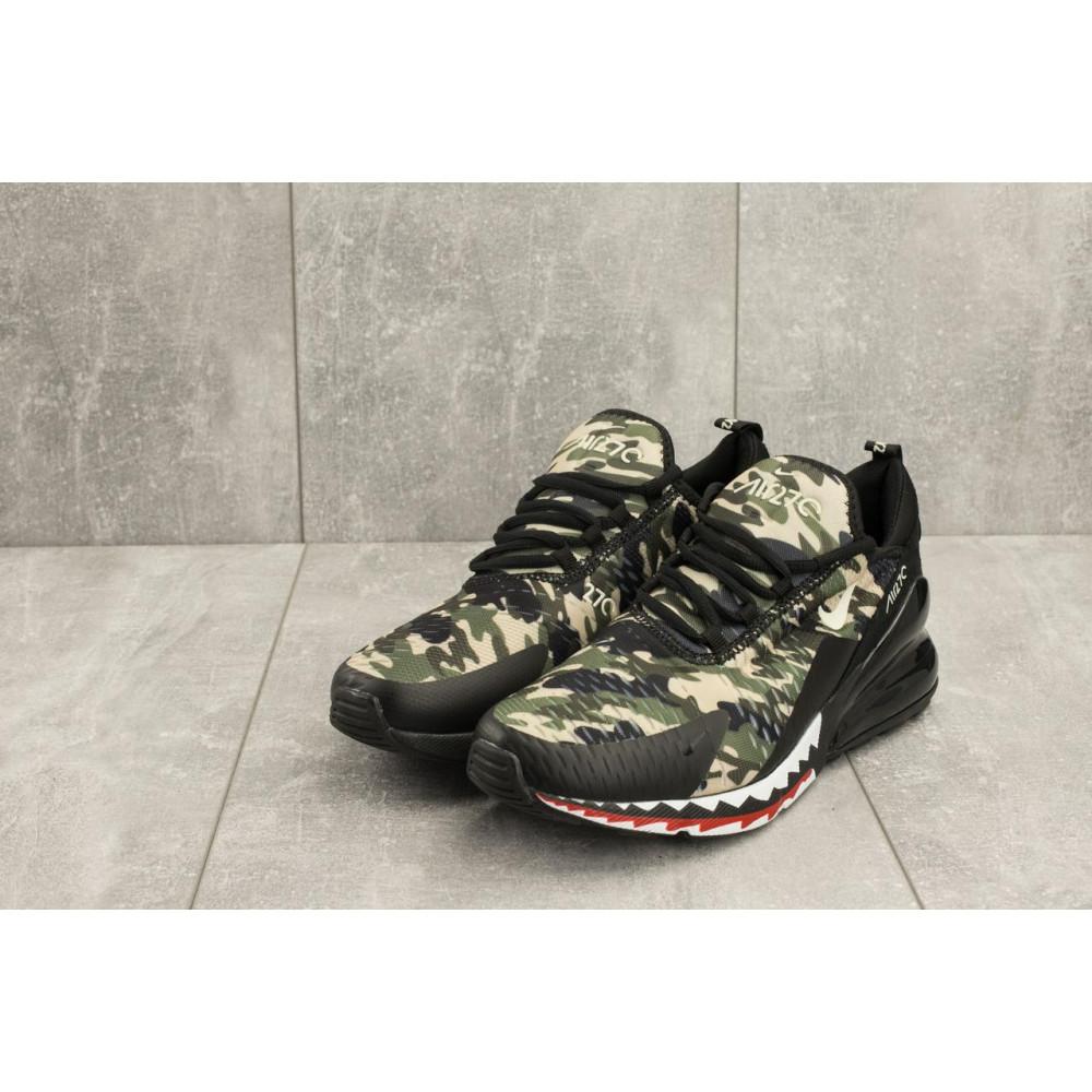 Демисезонные кроссовки мужские   - Мужские кроссовки текстильные весна/осень хаки-черные Baas А 358 -41 1