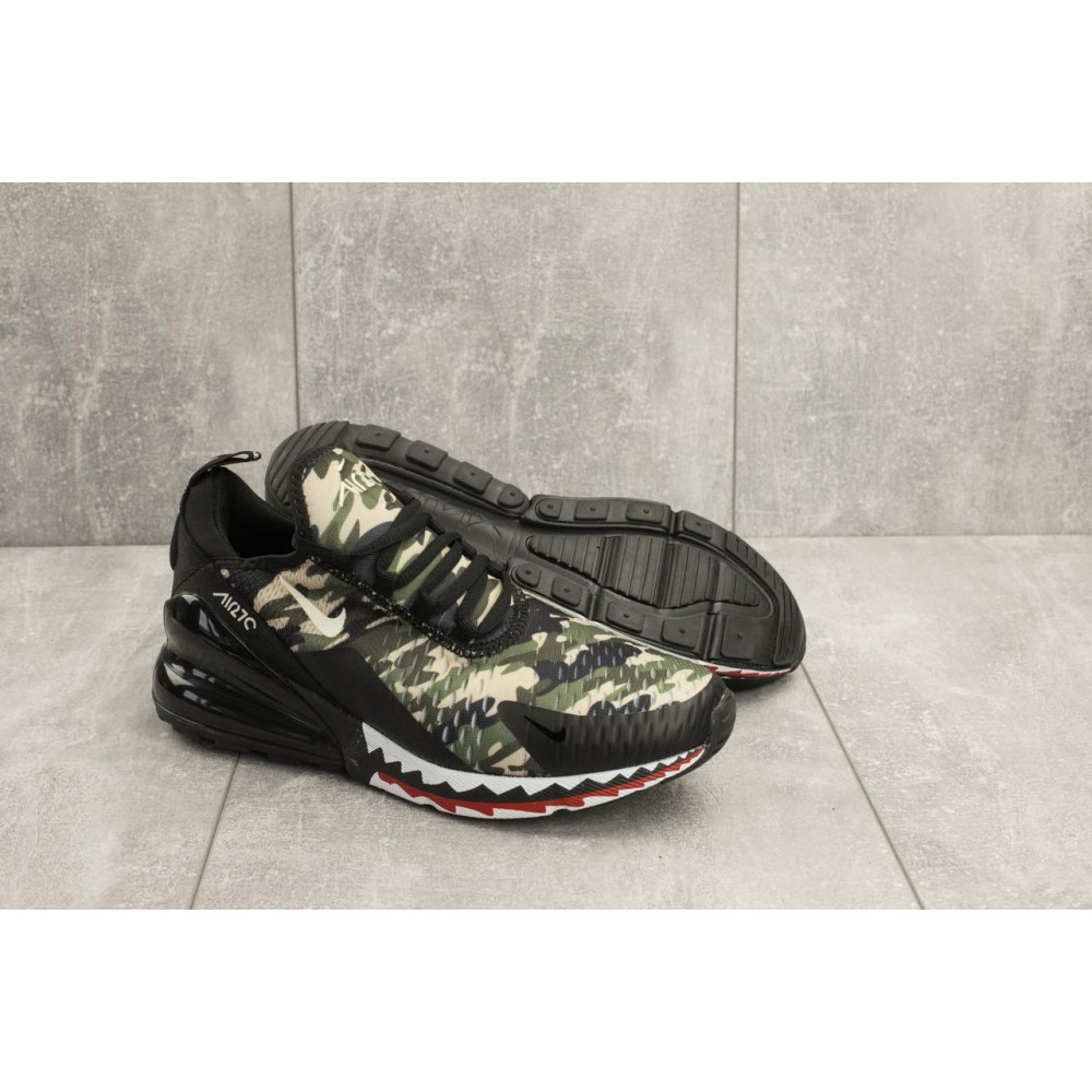 Демисезонные кроссовки мужские   - Мужские кроссовки текстильные весна/осень хаки-черные Baas А 358 -41 4