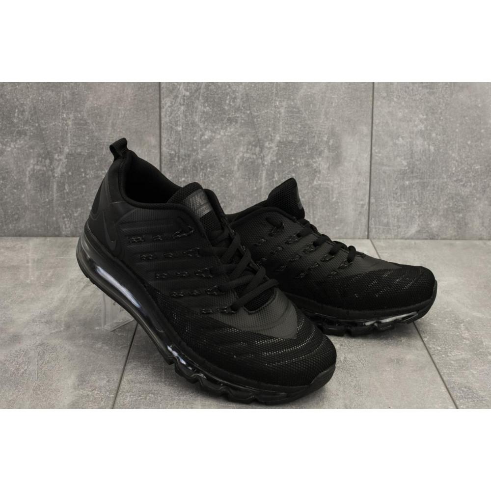 Демисезонные кроссовки мужские   - Мужские кроссовки текстильные весна/осень черные Classica G 5102 -6