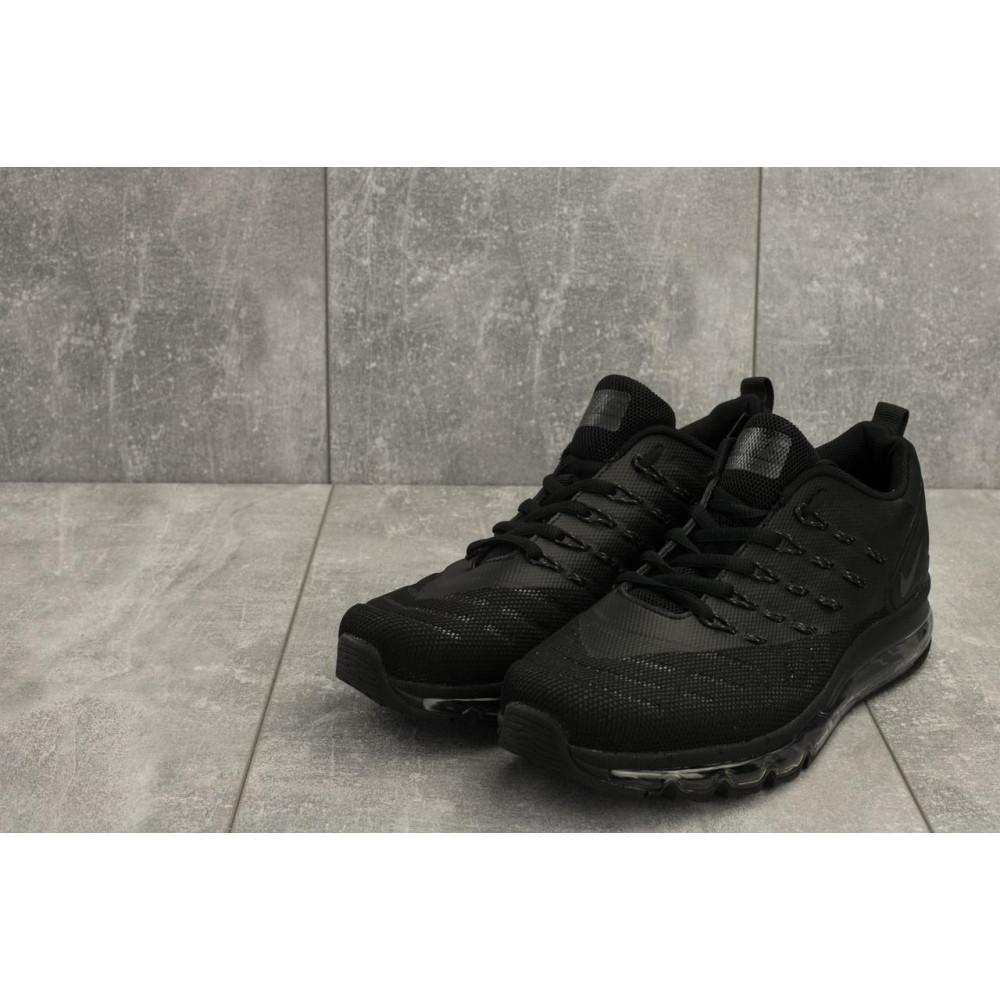 Демисезонные кроссовки мужские   - Мужские кроссовки текстильные весна/осень черные Classica G 5102 -6 3