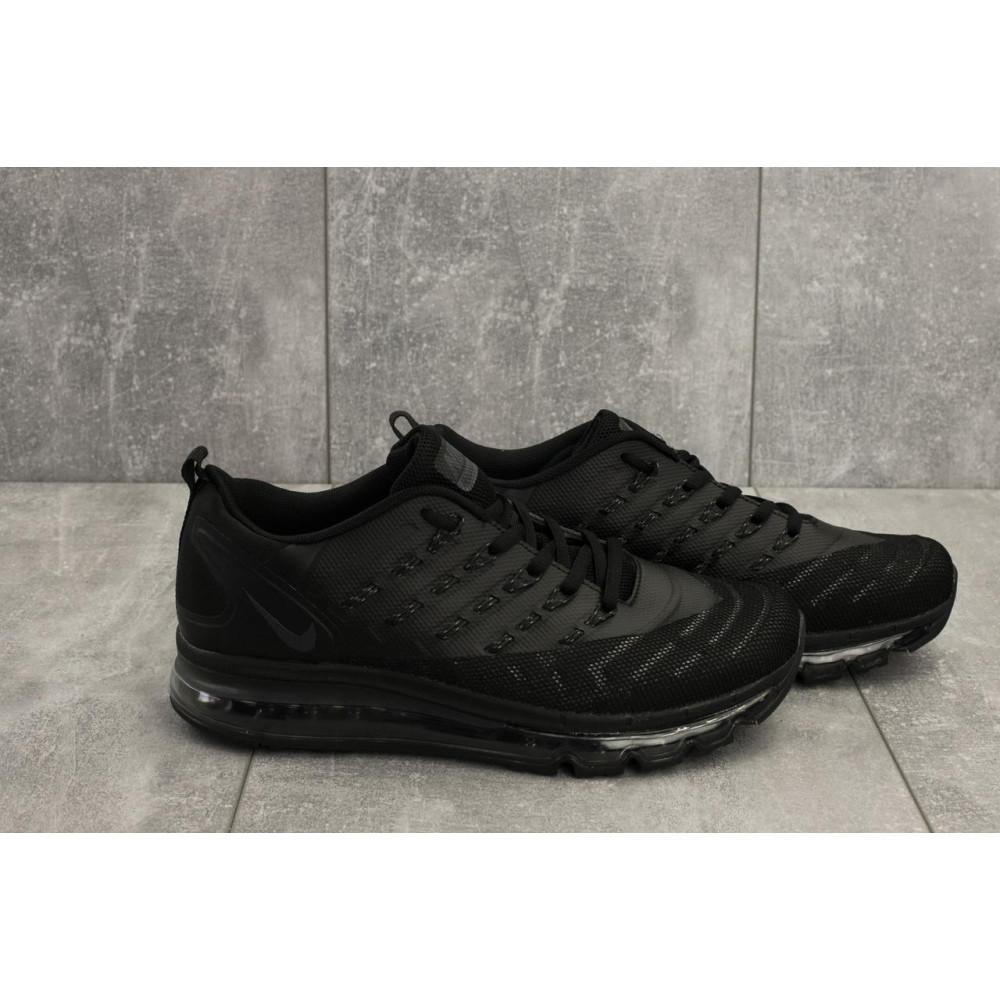 Демисезонные кроссовки мужские   - Мужские кроссовки текстильные весна/осень черные Classica G 5102 -6 4