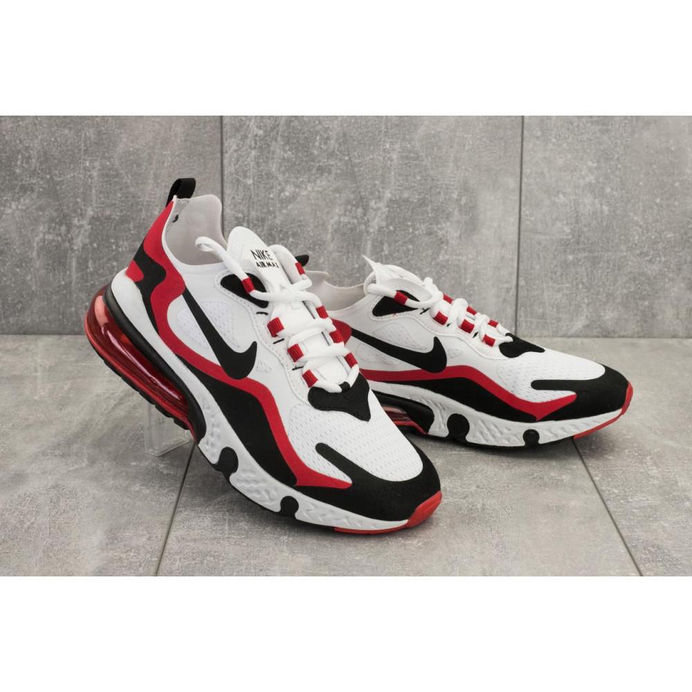 Демисезонные кроссовки мужские   - Мужские кроссовки текстильные весна/осень белые-красные Baas A 490 -4