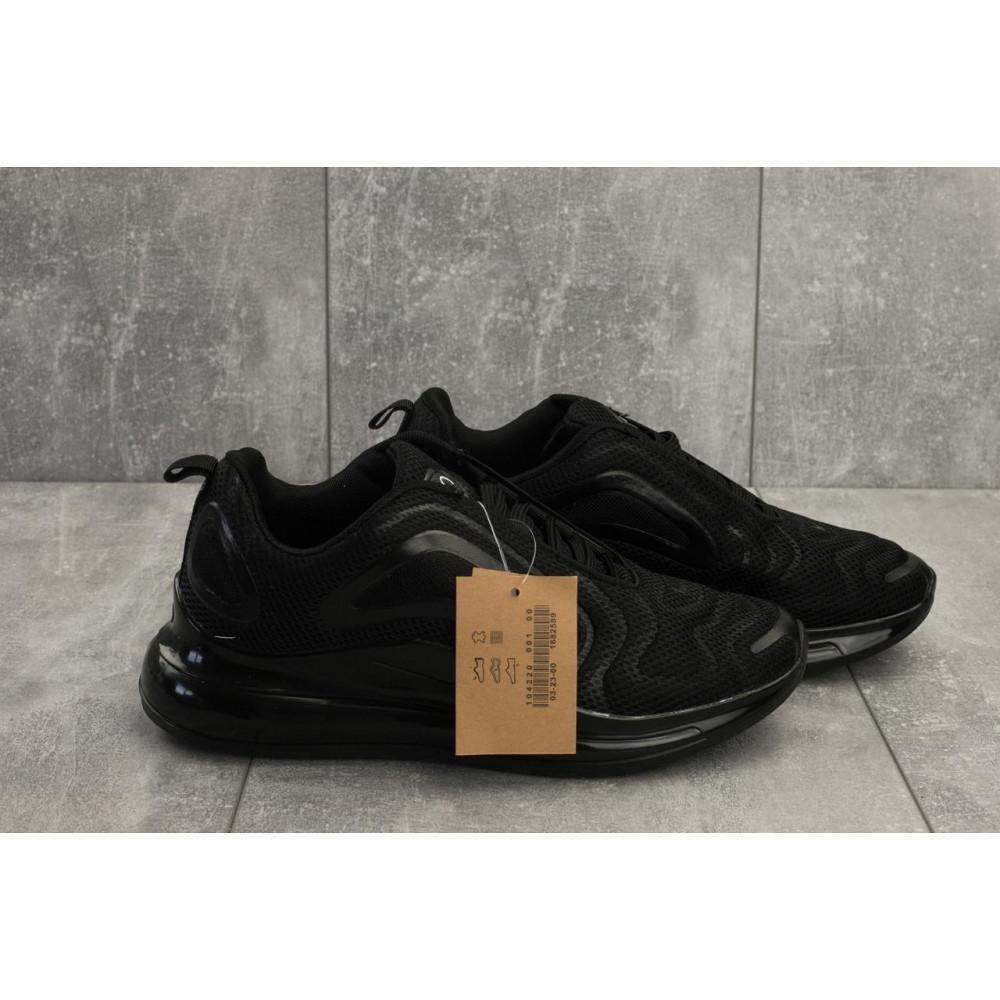 Демисезонные кроссовки мужские   - Мужские кроссовки текстильные весна/осень черные Ditof A 1125 -1 4