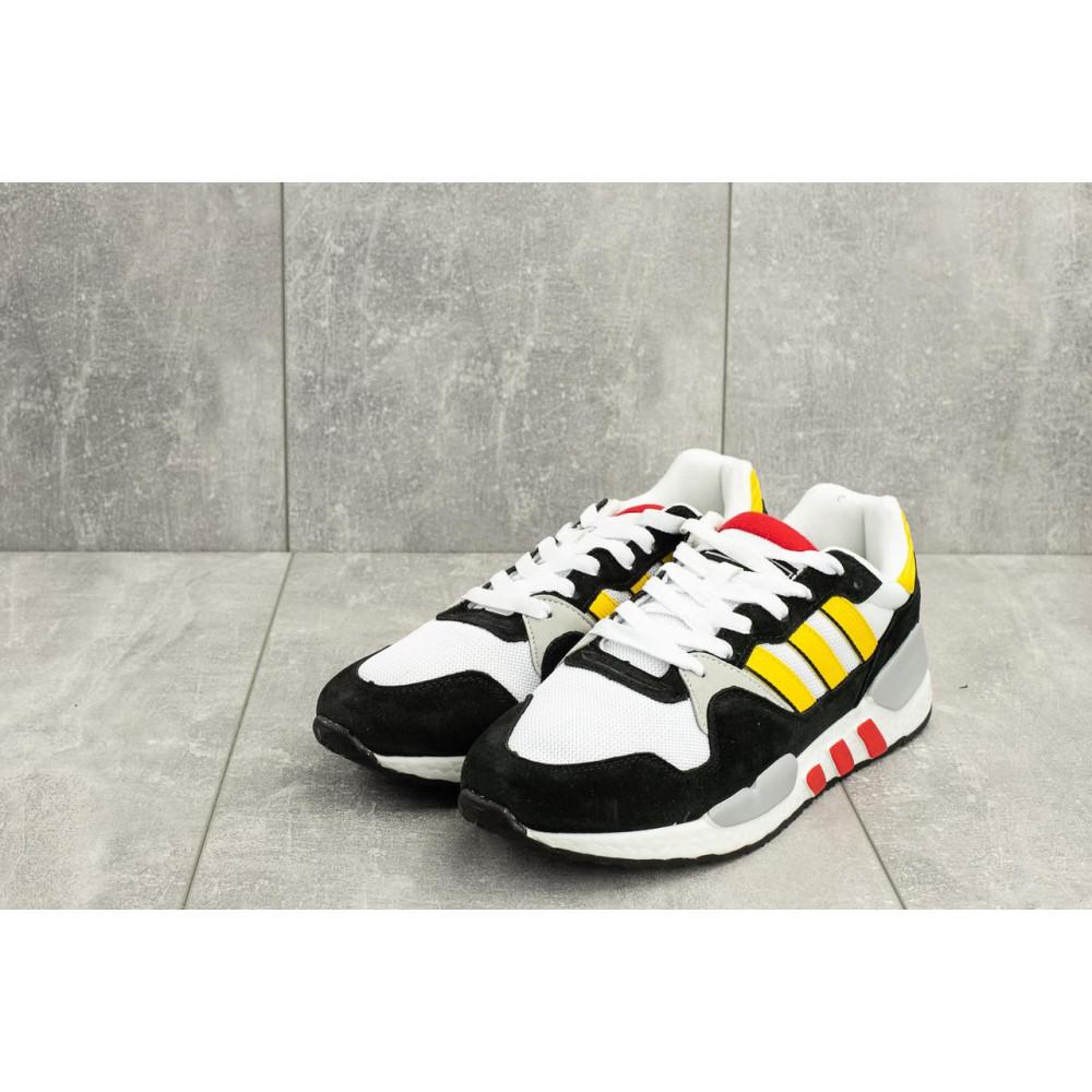 Демисезонные кроссовки мужские   - Мужские кроссовки текстильные весна/осень белые-черные Baas A 423 -4 4