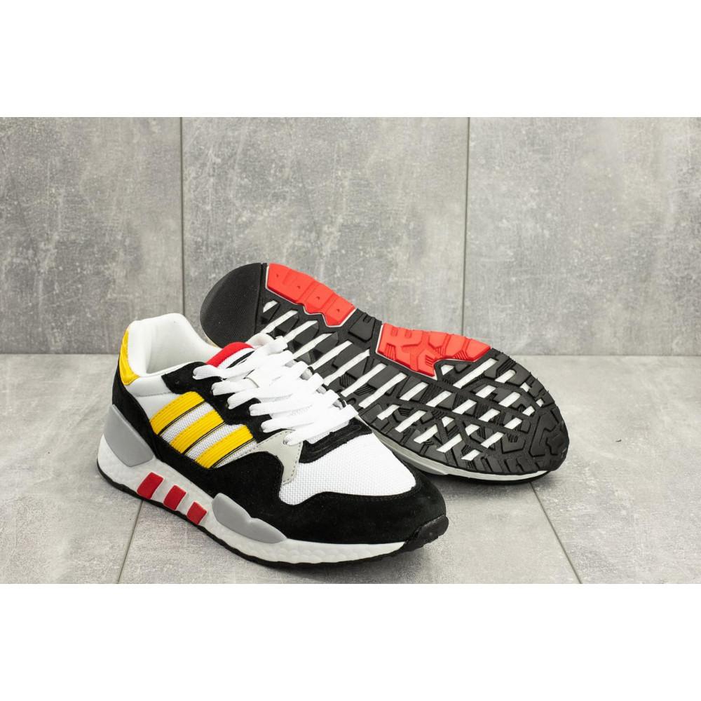 Демисезонные кроссовки мужские   - Мужские кроссовки текстильные весна/осень белые-черные Baas A 423 -4 1