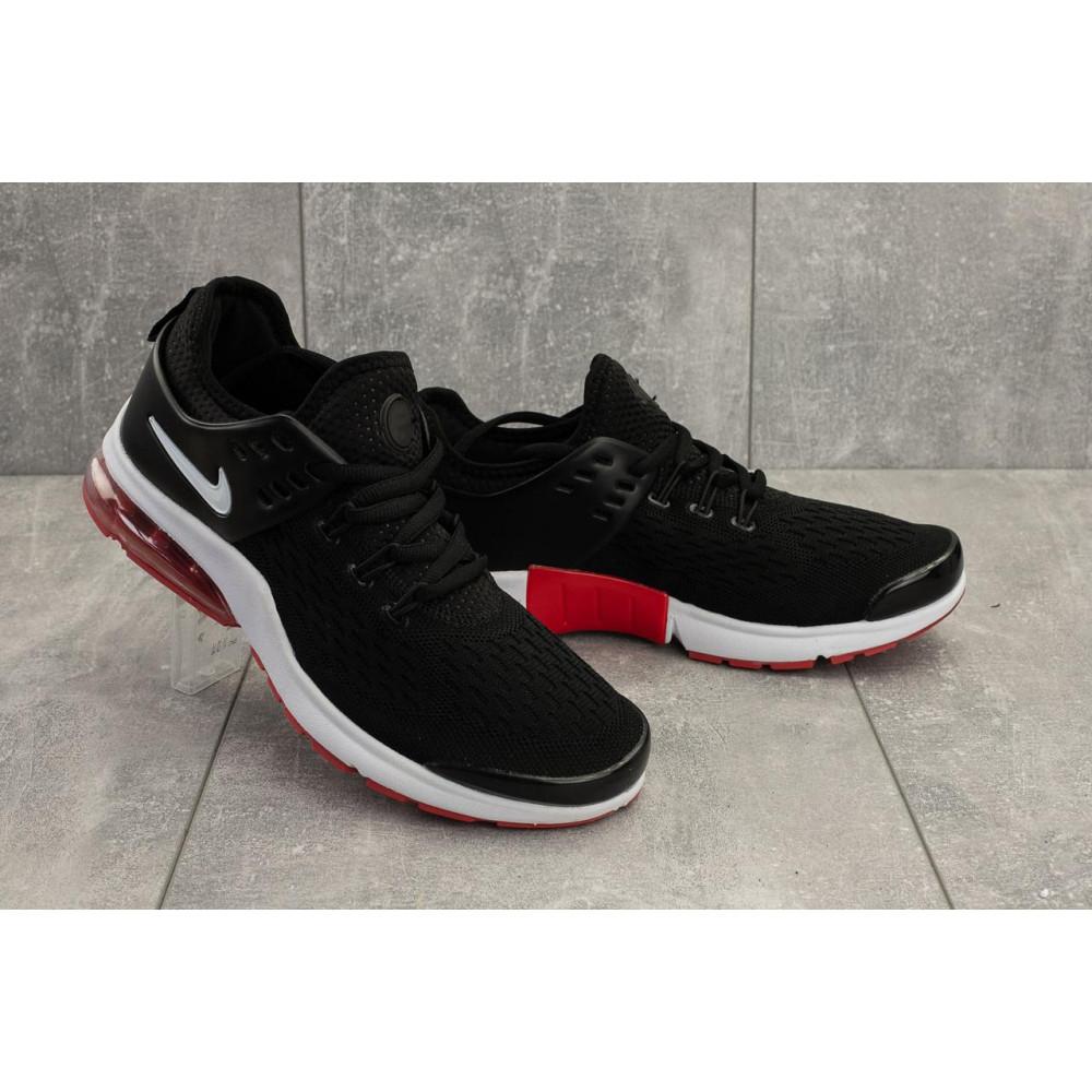 Беговые кроссовки мужские  - Мужские кроссовки текстильные летние черные-красные Classica G 5110 -3