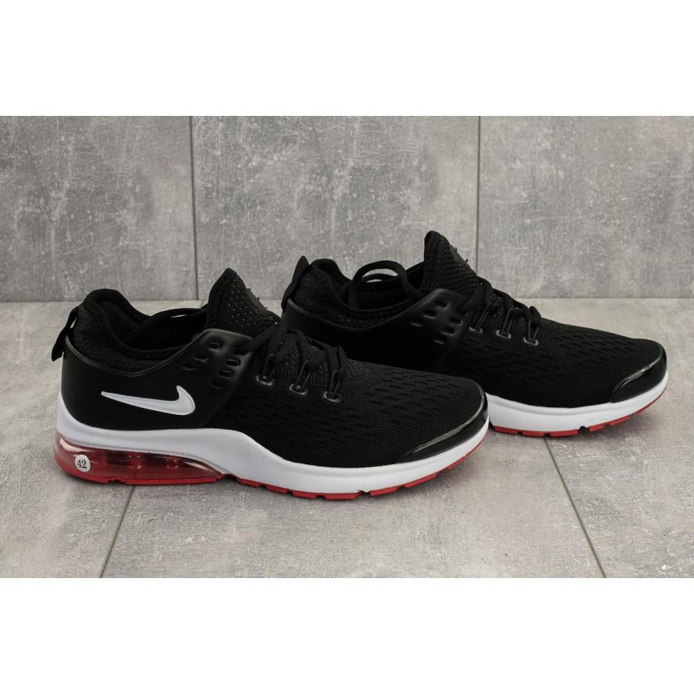Беговые кроссовки мужские  - Мужские кроссовки текстильные летние черные-красные Classica G 5110 -3 4
