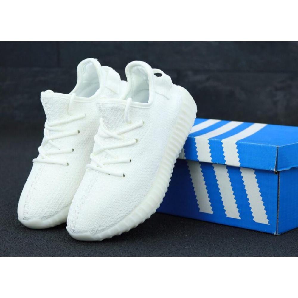 Демисезонные кроссовки мужские   - Белые кроссовки Adidas Yeezy Boost 350