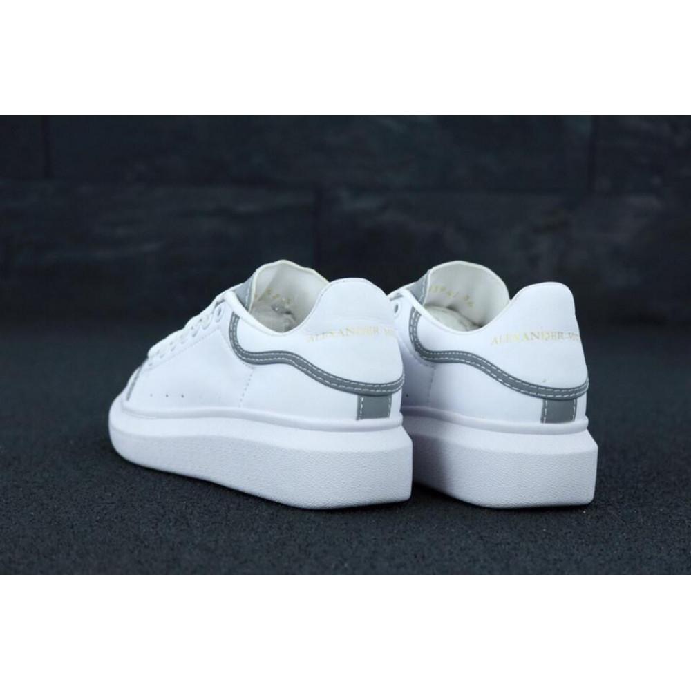 Женские кроссовки классические  - Женские кроссовки Alexander McQueen White Grey Reflective 4