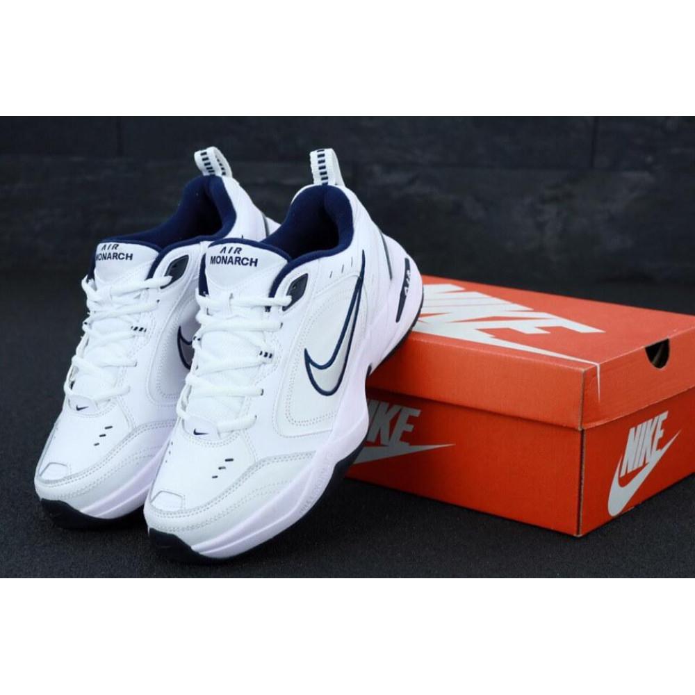 Кожаные кроссовки мужские - Белые мужские кожаные кроссовки Найк Монарх 4