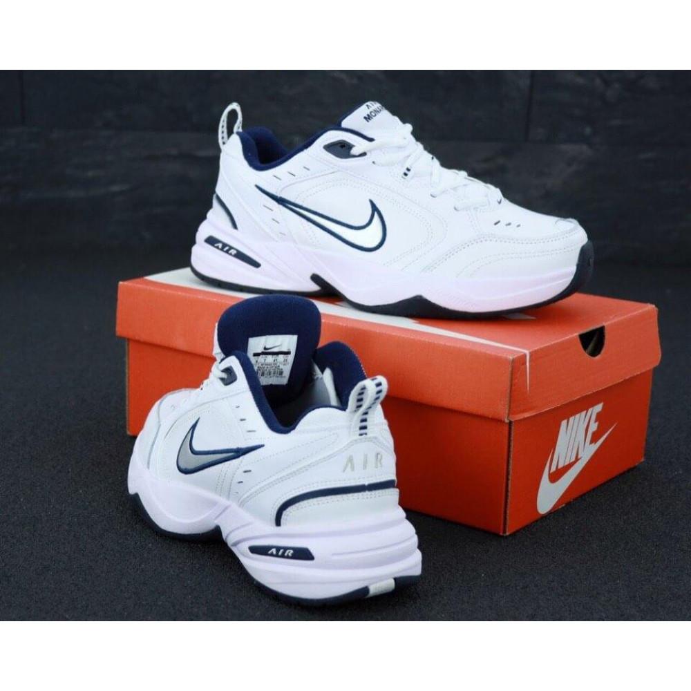 Кожаные кроссовки мужские - Белые мужские кожаные кроссовки Найк Монарх 4 3