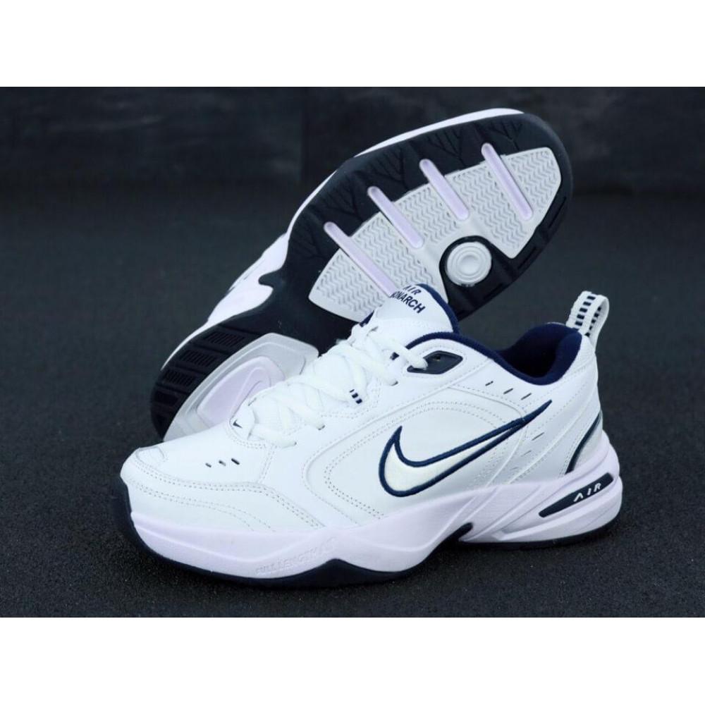 Кожаные кроссовки мужские - Белые мужские кожаные кроссовки Найк Монарх 4 1